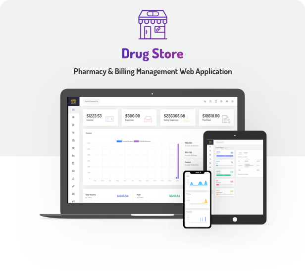 Drug Store Pharmacy Management Web Application